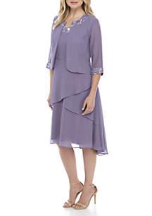 2-Piece High Low Jacket Dress Set