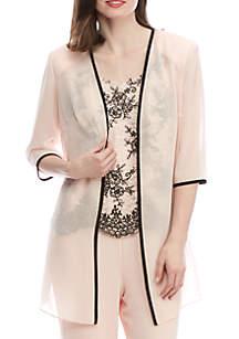 Lace Tiered Jacket Dress Set