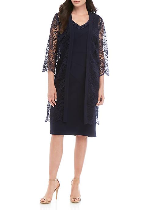 Maya Brooke 2 Piece Lace Jacket and Dress