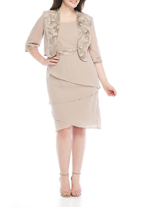 Dana Kay Plus Size 2-Piece Embroidered Jacket