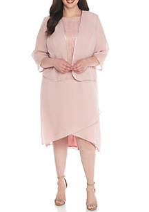 ec38988cf8d Dana Kay. Dana Kay Plus Size Lace Tiered Skirt Jacket Dress