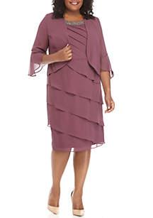 2-Piece Tiered Jacket Dress