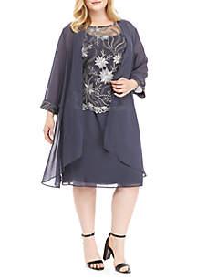 Le Bos Plus Size Jacket Short Dress