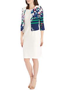 Maya Brooke Floral Jacket Dress