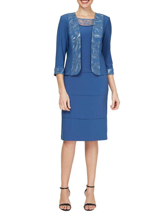 Dana Kay Womens Jacket Dress