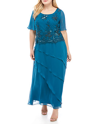 63289037ee9c Le Bos. Le Bos Plus Size Popover Embellished Gown