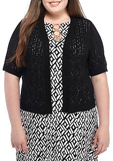 Robbie Bee Plus Size Knit Topper