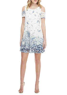 c8b3808a8f7d Robbie Bee Lace Cold Shoulder A Line Dress ...