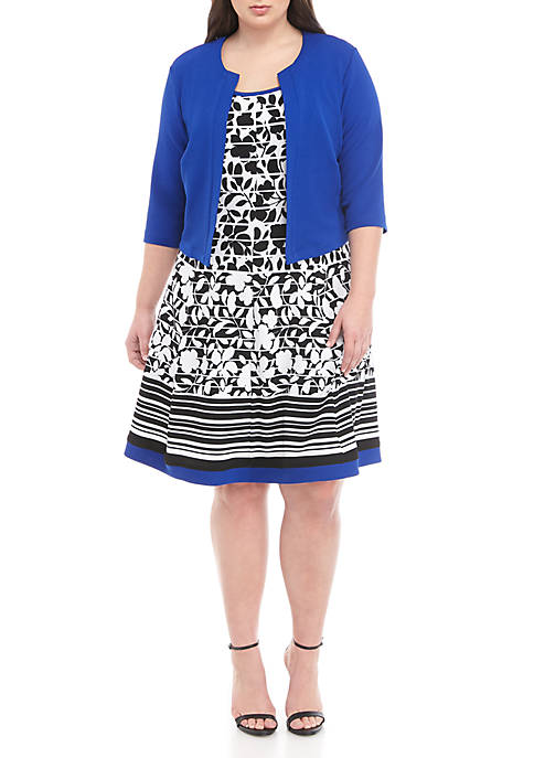 Robbie Bee Plus Size 2 Piece Jacket and
