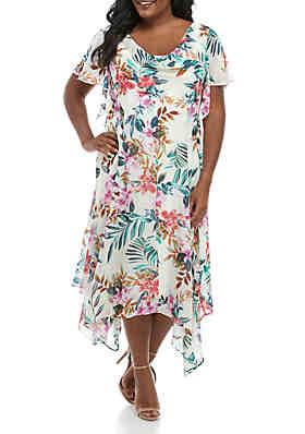 e2f0d18fe7e Robbie Bee Plus Size Floral Chiffon Maxi Dress ...