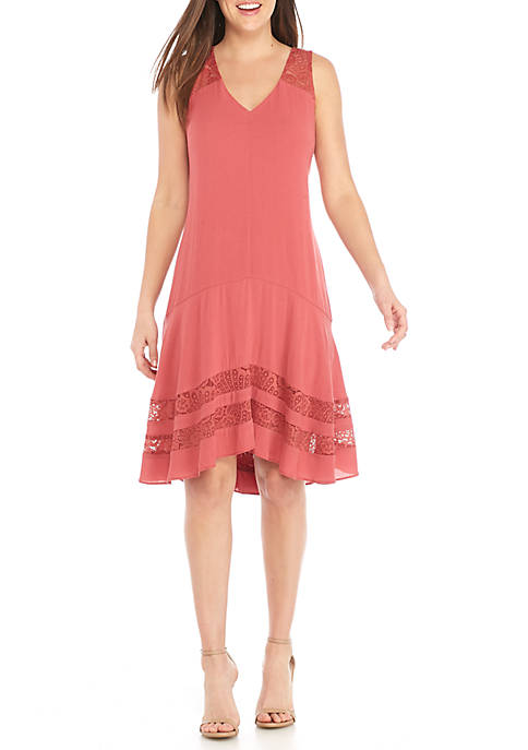 Robbie Bee Sleeveless Gauze A-Line Dress