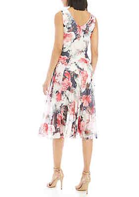 1cb8bc7f71c Robbie Bee Sleeveless Asymmetric Hem Chiffon Dress Robbie Bee Sleeveless  Asymmetric Hem Chiffon Dress