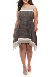 Robbie Bee Plus Size Dot A Line Dress
