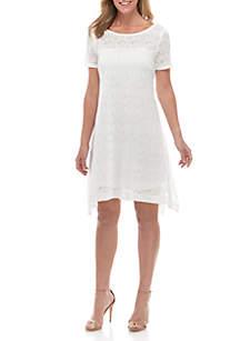 b7f434cc7d6cfd Lauren Ralph Lauren Denim Shift Dress · Robbie Bee Short Sleeve Lace A Line  Dress