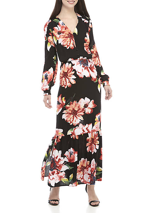 LABEL by five twelve Long Sleeve Floral Maxi