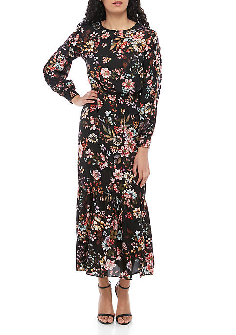 LABEL by five twelve 3/4 Sleeve Floral Tiered