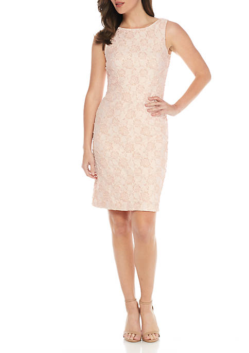 Donna Ricco New York Embroidered Sheath Dress