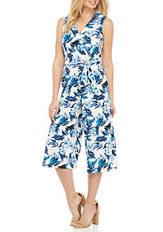 Donna Ricco New York Floral Printed Culotte Jumpsuit