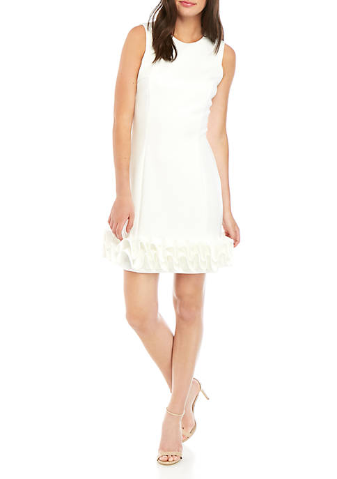 Donna Ricco New York Sleeveless Ruffle Hem Dress