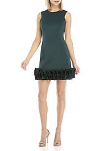 Sleeveless Ruffle Hem Dress