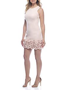 Ruffle Hem Sheath Dress