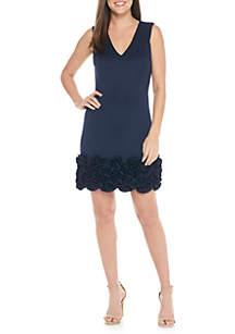 Sleeveless V-neck Cupcake Hem Dress