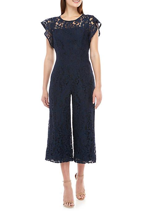 Donna Ricco New York Short Sleeve Allover Lace