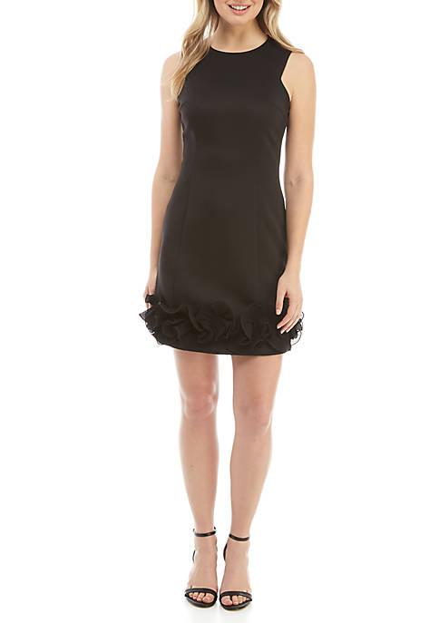 Donna Ricco New York Sleeveless Ruffle Hem Dress