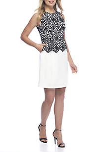 Sleeveless Crochet Skirt Dress