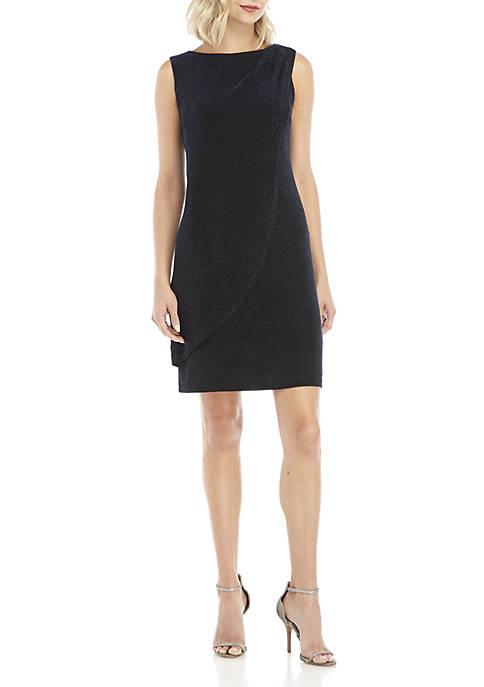 Donna Ricco New York Sleeveless Shoulder Detail Drape