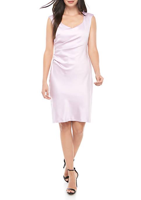 Ruched Side Satin Dress