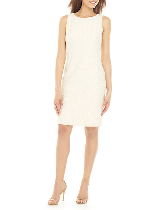 Donna Ricco New York Sleeveless Brocade Sheath Dress