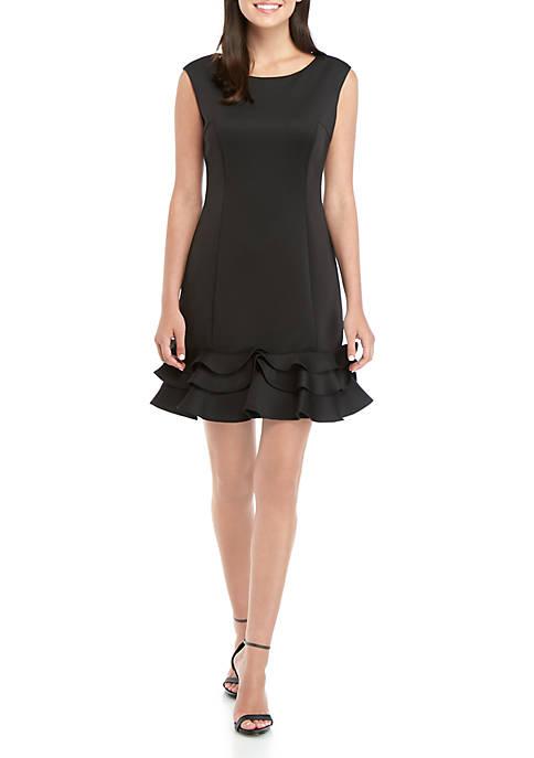 Donna Ricco New York Ruffle Hem Short Dress