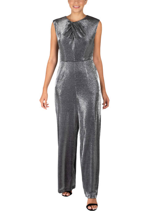 Donna Ricco New York Womens Cap Sleeve Metallic