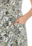 Juniors Off the Shoulder Button Front Midi Dress