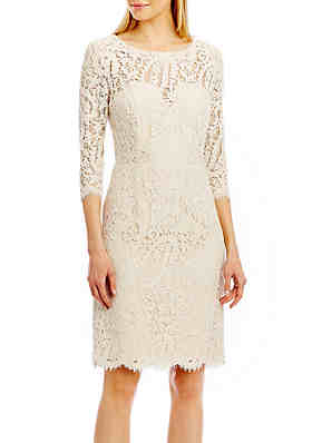 1f373bf4e96 Nicole Miller New York Bow Back Lace Dress ...
