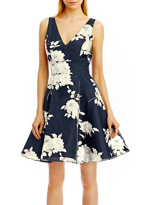 Floral Fit and Flare Cocktail Dress