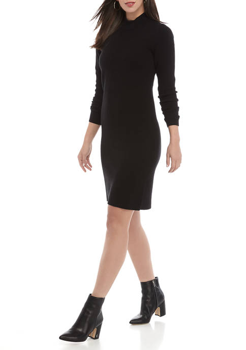 Charles Henry Womens Mock Neck Sweater Dress