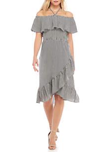 Halter Neck Popover Midi Dress