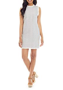 3599599f THE LIMITED Ruffle Dress · Charles Henry Sleeveless Stripe Sheath Dress