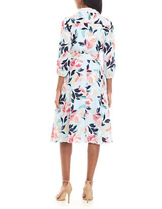 d83e07395aa7 Charles Henry Long Sleeve Printed Wrap Dress | belk