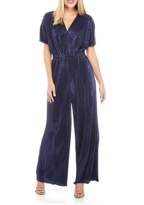Charles Henry Womens Crossover Jumpsuit