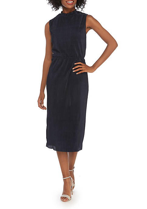 Charles Henry Sleeveless Midi Dress