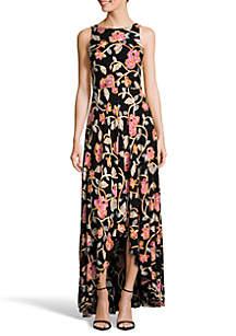 High Low  Ruffle Hem Maxi Dress