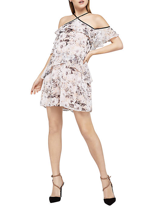 BCBGeneration Off-The-Shoulder Ruffle Tier Dress