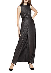 High Neck Sleeveless Black Maxi Dress