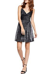 Sleeveless V-Neck Ruched Dress