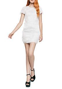 Short Sleeve Fringe Dress