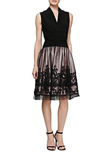 Soutache Lace Border Dress