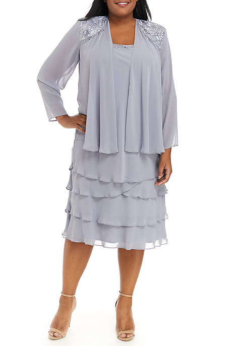 Plus Size 2 Piece Dress Set